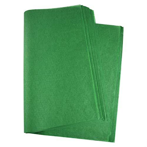Miahart Weihnachtliches Seidenpapier, 60 Blatt, 50 x 35 cm für DIY und Basteln, Geschenktüten, Dekorationen, Geschenkpapier grün