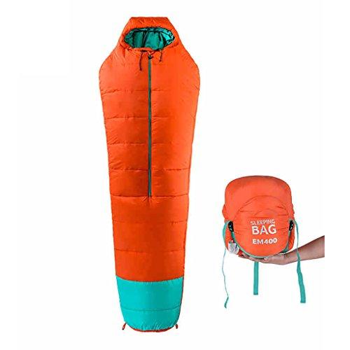 ZML Sac de Couchage Simple, Chaud, Léger, Portable, Camping en Plein air (Couleur : Orange, Taille : 400g/m2)