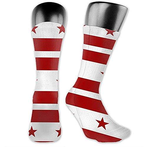 Warm-Breeze Womens Mens Crew Socks Flag of The District of Columbia Novelty Ankle Sports Compression Socks
