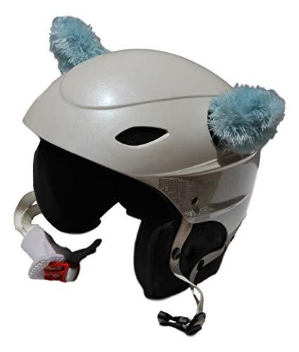 Orecchie azzurre in peluche per casco da sci, casco da snowboard, casco da moto, casco da bicicletta, casco da skateboard, casco da skate