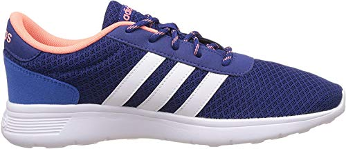 adidas Damen Lite Racer W Fitnessschuhe, blau/orange/weiß, 37 1/3 EU