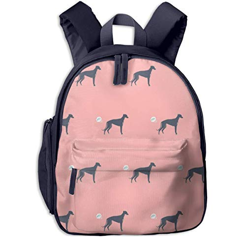 AOOEDM School Backpack,Cute Grey Funny Fart Dog Cartoon Backpacks Book Bag