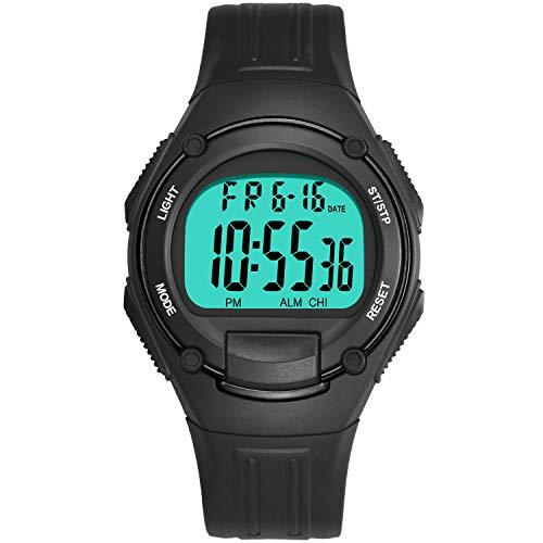 Withou Deportes de los Hombres a Prueba de Agua Reloj electrónico, Cuadrado Simple del diseño del Reloj, en Pantalla Grande del Reloj de Manera de Estudiantes, al Aire Libre Dual Time Reloj Deportivo