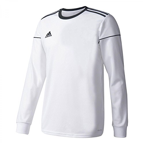 adidas Herren Squad 17 JSY LS Long Sleeved T-Shirt, White/Black, XS