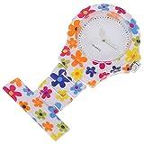 UKCOCO Reloj de Enfermera Reloj Fob Reloj de Cuarzo de Metal Portátil con Clip en El Reloj de Segunda Mano para Enfermeras Médicos Chefs Escaladores Oficina en Casa Uso Aire Libre