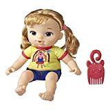 BABY ALIVE Littles, Squad, Little Astrid, Blonde Hair, 9-inch Take-Along Toddler Doll with Comb