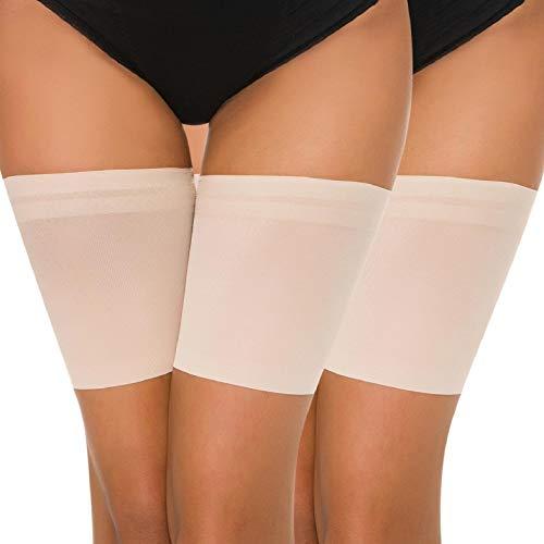 Voqeen Elastische Oberschenkelbänder Oberschenkel Socken Damen Anti-Rutsch Oberschenkel Anti-Chafing Bands Thigh Bands gegen Oberschenkelnreibung