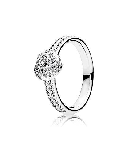 PANDORA - Nudo del anillo del amor de plata chispeante 925/1000 PANDORA 190997CZ - 50