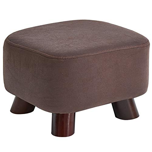 IBUYKE 7.48''Solid wood creative shoes changing stool tea table low stool sofa stool small stool household square stool bed end stool RF-BD131