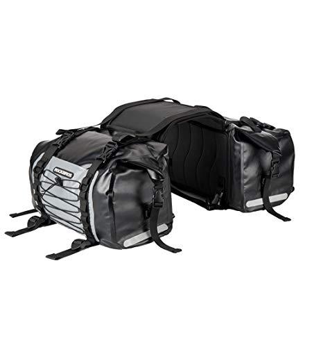 ROCKBROS Bolsa para Moto Alforjas Impermeable PVC para Asiento 62L Motociclismo Viajes