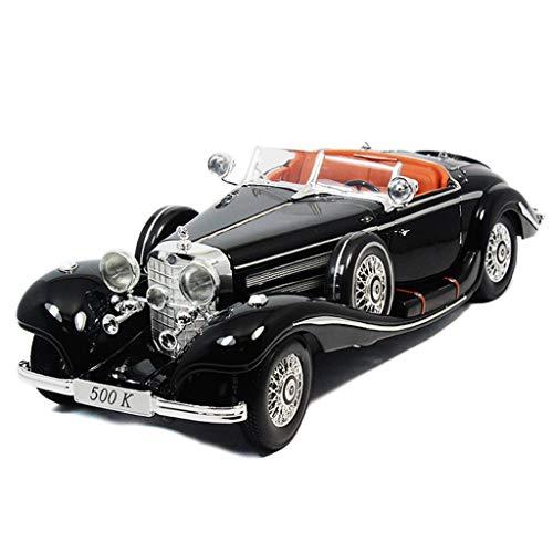 GYZS-TOY 01:18 modèle de Voiture/Compatible avec Mercedes-Benz 500K 1936 / Classique Simulation Voiture en Alliage modèle de Voiture (Color : Black)