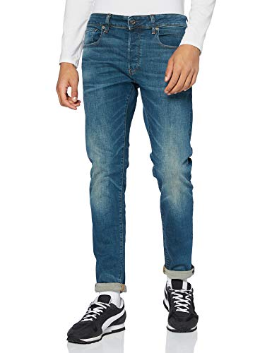 G-STAR RAW 3301 Slim Vaqueros, Medium Aged 9118-071, 38W / 32L para Hombre