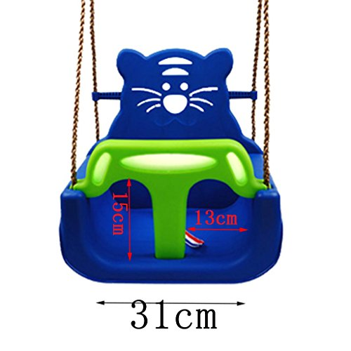 Ailin home- Kids Toys Childrens Indoor Cradle Swing Seat Childs Toddler réglable Outdoor Garden Rope Safety Safe Swing Seat - Convient pour 2-10 ans ( Couleur : Bleu )
