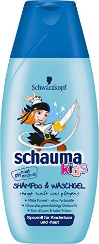 SCHWARZKOPF SCHAUMA Kids Shampoo & Waschgel Jungs, 5er Pack (5 x 250 ml)