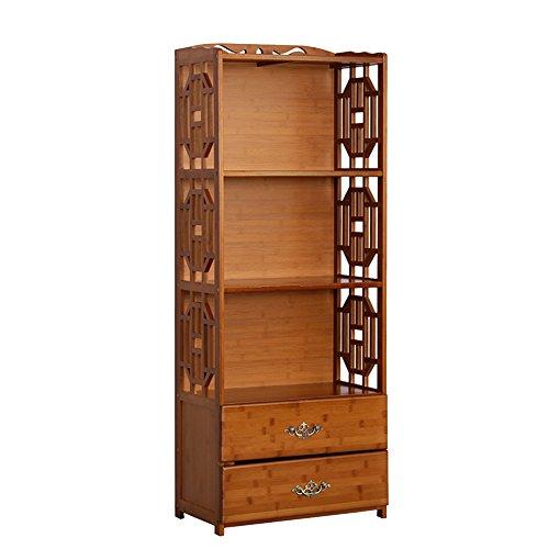 Mensola per libri CHUANLAN Libreria in bambù con cassettiera Libreria Scaffali Scaffale Scarpiera da Terra (Dimensioni : 42 * 29 * 130cm)