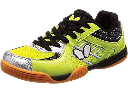 Butterfly Lezoline SAL Shoes – Breathable, Excellent Grip, Tournament Quality Table Tennis Shoes for Men or Women – Colors: Blue, Grey, Lime Green, Pink or White, 7.5