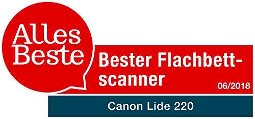 Canon LiDE 220 Scanner CanoScan Flachbettscanner DIN A4 (USB, 4.800 x 4.800 dpi), schwarz