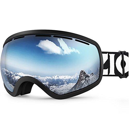 ZIONOR Lagopus Ski Snowboard Goggles UV Protection Anti-Fog Snow Goggles for Men Women Youth