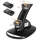 YCCTEAM Xbox 360 Power & Play Controller Charger with Rechargeable Battery Packs, Dual Slot Dock Station Controller Stand with Batteries Accessories Kit for Xbox 360