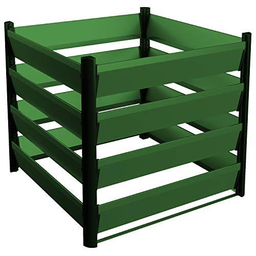 Komposter aus Aluminium 90x90cm mit optimalen Verottungsprozess für den Garten - einfaches Stecksystem & besonders stabile Konstruktion - 15 Jahre Garantie - direkt vom Hersteller - Made in Austria