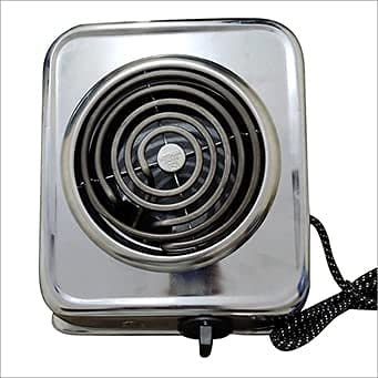 H.V TRADERS 2000-Watt With Wire G Coil Hot Plate Induction Cooktop/Induction Cookers/Handy G Coil Cooktop,Silver with 1 year warranty