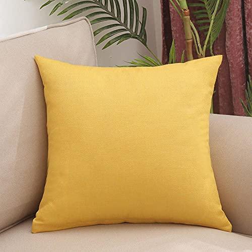Almohada, Almohada de Diseño Ergonómico, Adecuada para Todos los Durmientes -Limon Amarillo_55x55cm