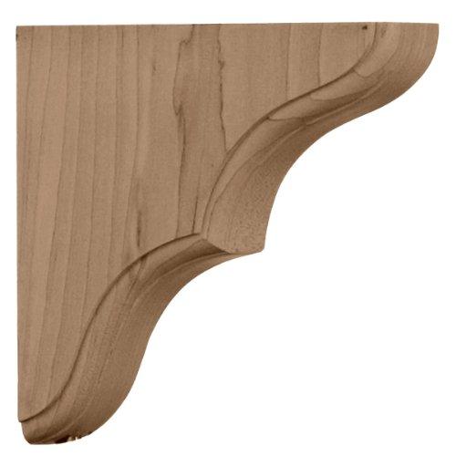 Ekena Millwork BKTW02X06X06STRW 1 3/4-Inch W by 5 1/2-Inch D by 5 1/2-Inch H Stratford Wood Bracket, Rubber Wood