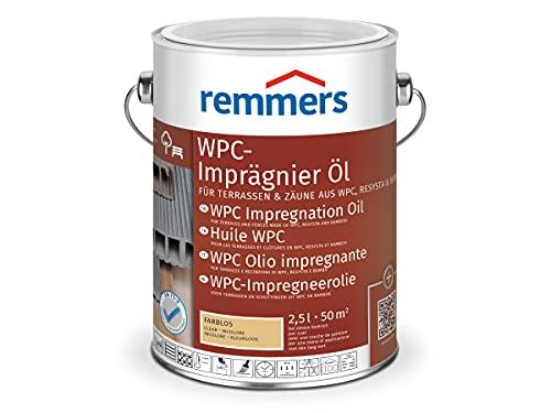 Remmers WPC-Imprägnier-Öl farblos, 2,5 Liter, lösemittelbasiertes WPC Öl für innen und außen, für Terrassen, Zäune oder Gartenmöbel aus WPC, Resysta und Bambus geeignet, WPC Öl für Terrassen