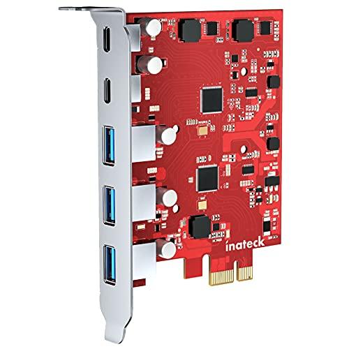 Inateck RedComets U25, PCIe 3.0 x1 USB...