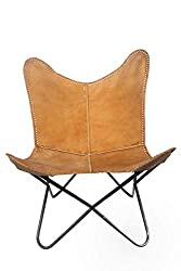 powerful Vintage genuine leather cover, BKF armchair, butterfly chair, office decoration – cover only