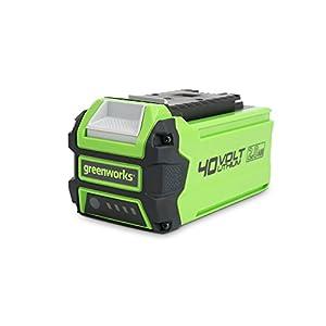 Greenworks Akku G40B2 2.Generation (Li-Ion 40V 2 Ah Schnellladungssystem ohne Selbstentladung passend für alle Geräte und Akkus der 40V Greenworks Tools Serie)