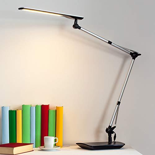 Preisvergleich Produktbild Lampenwelt LED Tischlampe 'Felipe' dimmbar (Modern) in Alu u.a. für Arbeitszimmer & Büro (1 flammig,  A+,  inkl. Leuchtmittel) - Tischleuchte,  Schreibtischlampe,  Nachttischlampe,  Arbeitszimmerleuchte