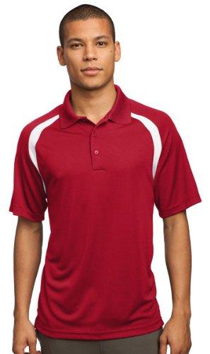 Sport-Tek® Dry Zone® Colorblock Raglan Polo. T476 True Red/White XL