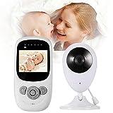 JulySeeYouz Vídeo Baby Monitor con la cámara, 2.4' Pantalla LCD de 2,4 GHz de...