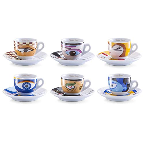 Zeller 26510 Espressotassen Set 12-teilig Magic Eyes