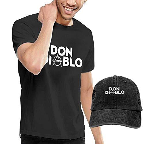 Don Diablo Men's Comfortable T Shirt and Caps Combination Black