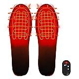 Woetale Climatizada Plantillas,Calentadores de pies con Mando a Distancia Inalámbrico Inteligente por USB,3 Modos Ajustables de Unisex Plantillas Cálidas, Tamaño: 41-45 (se Puede Cortar)