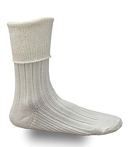 SHYNE KILTS U.K Creme Herren Schottisches Highland Wear Socken S/M/L/XL - Creme, XL