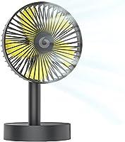 【自動首振り&超静音】小型扇風機 卓上扇風機 ミニ扇風機 充電式扇風機 省エネ 風量3段階調節 せんぷうき タイマー機能 usb扇風機