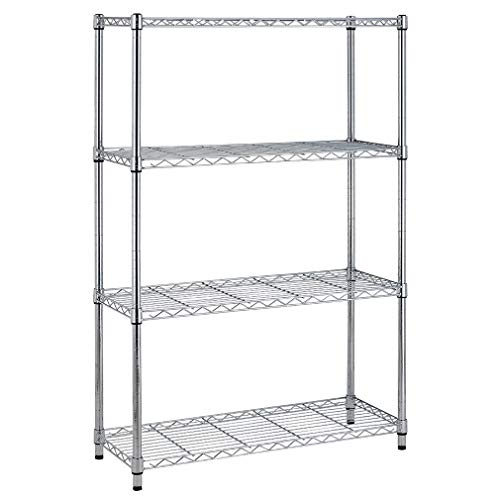 4 Shelf Wire Shelving Unit Garage NSF Wire Shelf Metal Large Storage Shelves Heavy Duty Height Adjustable Utility Commercial Organizer for 1000 LBS
