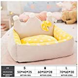 Kennel Dog Bed Removable And Washable Kennel Dog House Cat House Teddy Small Medium-Sized Dog Bed Pet Supplies Dog Beds for Small Dogs L Yellowdots