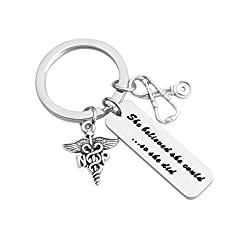 She Believed She Could So She Did Keychain Np Jewelry