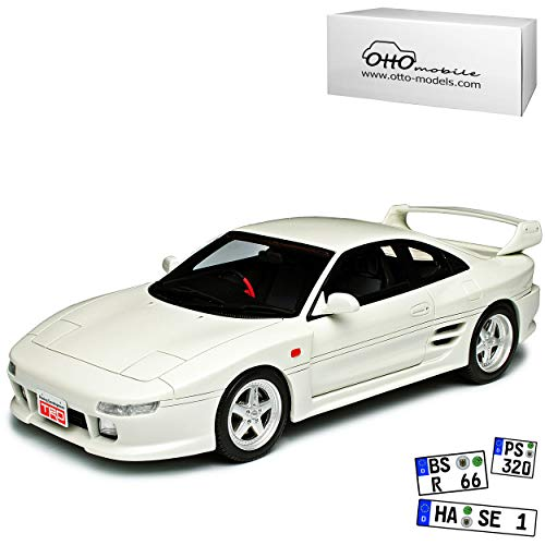 Toyota MR2 SW20 TRD 2000GT Coupe Weiss 2. Generation 1989-1999 Nr 749 1/18 Otto Mobile Modell Auto mit individiuellem Wunschkennzeichen