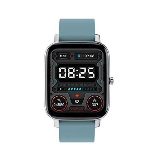 FMSBSC Smartwatch Reloj Inteligente con Pulsómetros Monitor de Sueño Presión Arterial Oxigeno, Pulsera Actividad Inteligente para Deporte, Reloj de Fitness con Podómetro Smartwatch Mujer Hombre,Azul