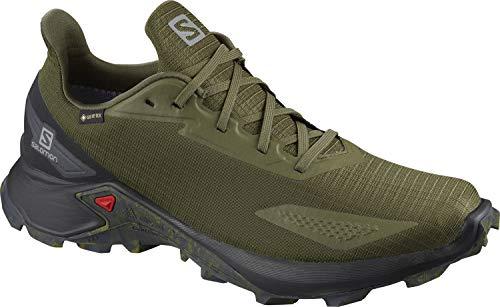 Salomon Herren Trail-Running-Schuhe, ALPHACROSS BLAST GTX, Farbe: Grün (Olive Night/Black/Ebony), Größe: EU 44 2/3