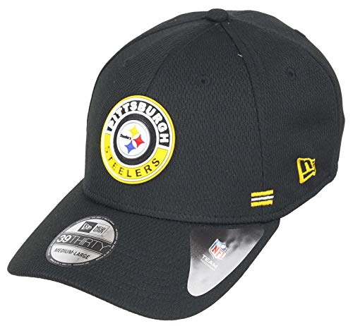 New Era Pittsburgh Steelers 39thirty Stretch Cap NFL 2020 Sideline Road Alternative Black - M - L