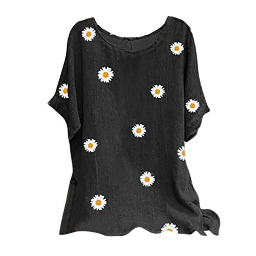 Why Should You Buy Toimothcn Tunic for Woman, Ladies Vintage Cotton Tunic Tops O-Neck Short Sleeve F...