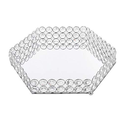 Almencla Luxury Style Mirrored Vanity Storage Tray Organizer Perfume Decorative Case