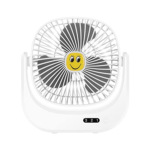 N\C Creative Mini Fan Desktop Charge up and Down Shake Head Three Adjustment USB Mini Fan Charge Home Dormitory Office Outdoor Office Size 215x215 Bianco