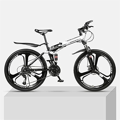 Bicicleta de montaña plegable de la montaña juvenil y de la montaña, bicicleta de montaña exterior, aluminio y marco de acero, 27 velocidades 26 pulgadas, suspensión completa mtb bicicletas, bicicleta